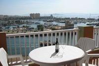 Apartment in Spain, La Manga: Balcony overlooking marina