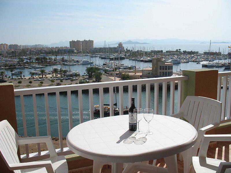 Apartment in Spain, La Manga: Balcony overlooking marina