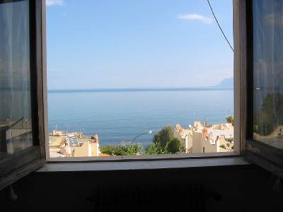 Apartment in Italy, Castellammare del Golfo: View from bed room