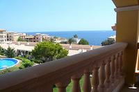 Apartment in Spain, Porto Cristo: view of sea and pool from balcony