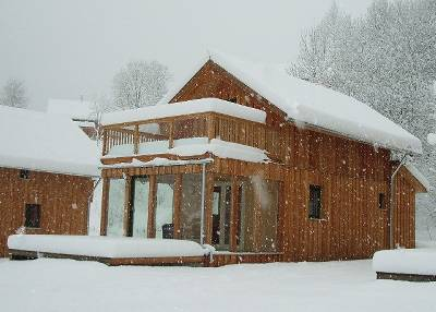 Chalet in Austria, Stadl an der Mur: Cosy and warm inside with deep snow outside
