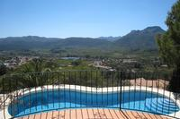 Villa in Spain, Jalon / Jalon Valley: Fantastic views from Naya overlooking pool
