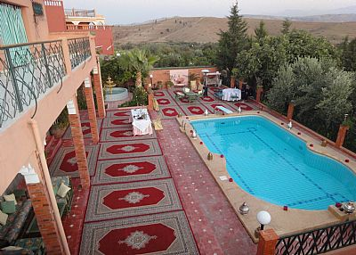 Villa in Morocco, Amizmiz: Terras and Pool