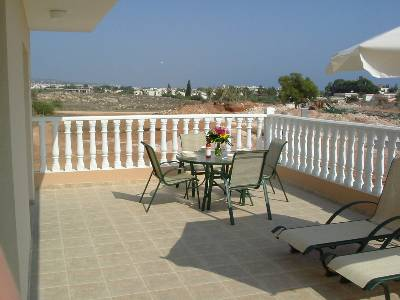 Apartment in Cyprus, Nissi Beach: Large veranda