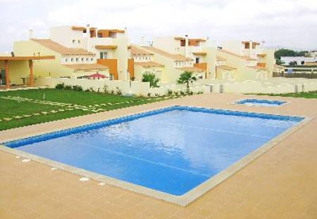 Villa in Fonte Santa, Algarve: Communal Gardens, Pool and rear view of House