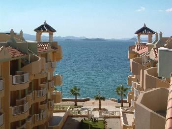Penthouse apartment in Spain, La Manga del Mar Menor: View from apartment
