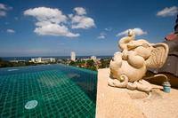 Villa in Thailand, Karon: Pool special feature, Elephant fountain