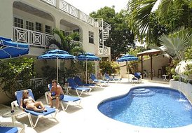 Apartment in Mullins Bay, Barbados: Pool Side View