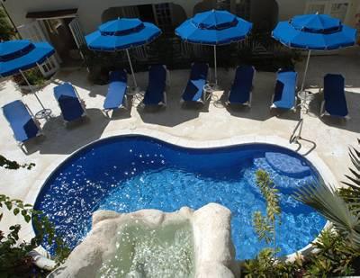 Apartment in Barbados, Mullins Bay: Ariel Pool Shot