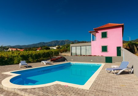 Country House in Farrobo, Madeira: the swimming pool area