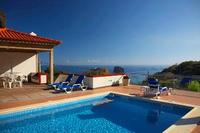Villa in Portugal, Porto da Cruz: Sea view from the swimming poll