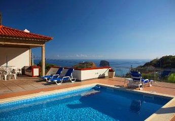 Villa in Portugal, Vila Porto da Cruz: Sea view from the swimming poll