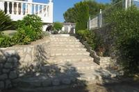 Apartment in Spain, Ontinyent: Stairs from apartment up to pool and BBQ area.