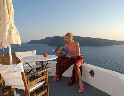 Apartment in Greece, Oia: View from the balcony