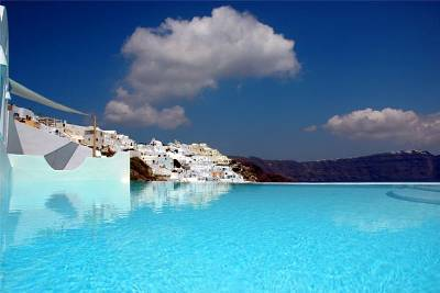 Apartment in Greece, Santorini: Pool and View