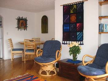 Apartment in Ecuador, Quito: Quito Apartment - living room and dining space
