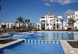 Apartment in La Torre Golf Resort, Spain: View Of The Apartment Across The Incredible Pool
