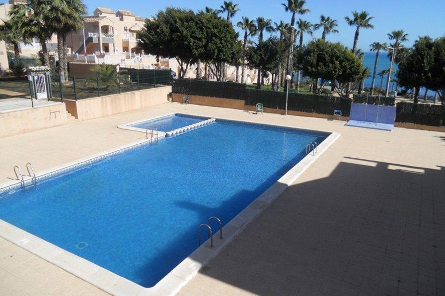 Apartment in Spain, Cabo Cervera-Playa La Mata: quiet communal pool overlooking the sea