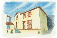 Cottage in France, Vendee: Watercolour of Cottage