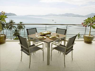 House in Thailand, Cape Panwa: Al fresco dining on C6 patio