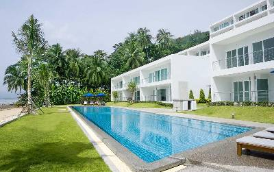 House in Thailand, Cape Panwa: A2 on the beach with 40m. pool in front