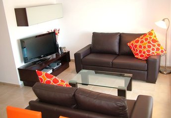 Apartment in Spain, La Torre Golf Resort: A Well Equiped Modern Lounge Area with UK TV Channels & ..