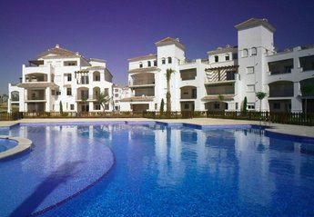 Apartment in Spain, La Torre Golf Resort: Looking back Towards the Apartment from the Swimming Pool