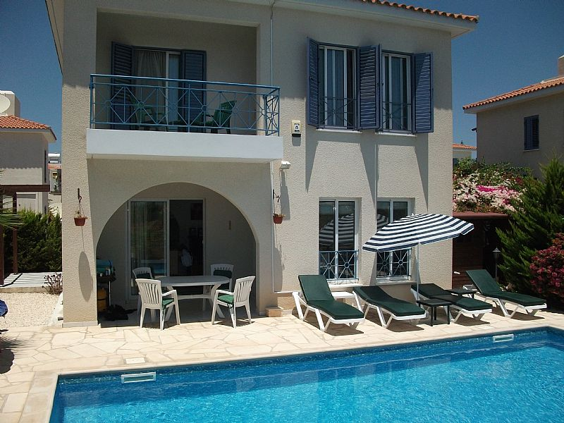 Villa in Cyprus, Konia: Rear Garden and Private Pool