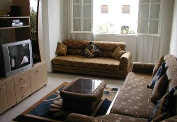 Apartment in Tunisia, Sousse: L Shaped longe with Sat TV, Mini HiFi