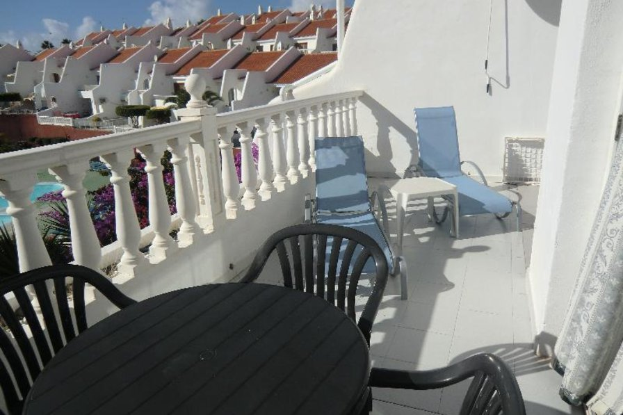 Apartment in Spain, Golf del Sur: Lovely sunny balcony