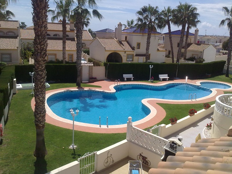 Villa in Spain, Las Piscinas: Pool view from roof terrace