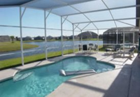 Villa in Eagle Pointe, Florida: Pool and Lake View