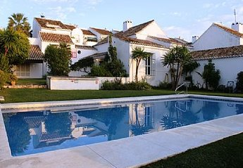 Village House in Spain, Mijas Golf: Large pool overlooked by the town house