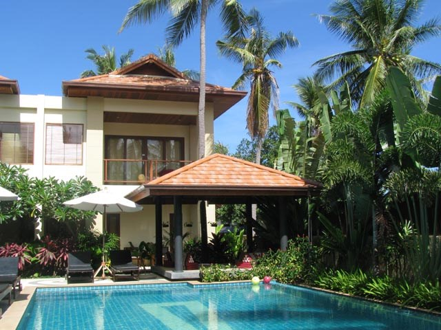 House in Thailand, Chaweng: Surrounded by coconut trees