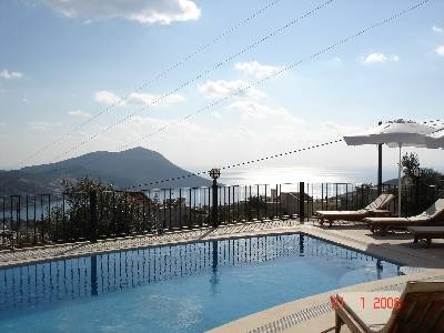 Villa in Turkey, Kalkan: Lounging by the Pool