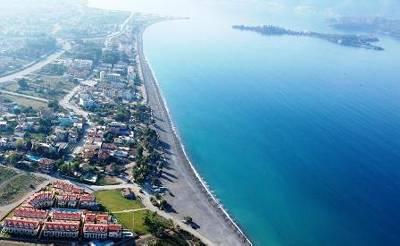 Villa in Turkey, Calis Beach: Aerial view of Seaside and Calis