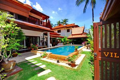 Villa in Thailand, Lamai: Villa and gardens