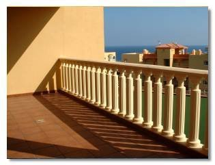 Apartment in Spain, Golf del Sur: The sunny balcony has sea views