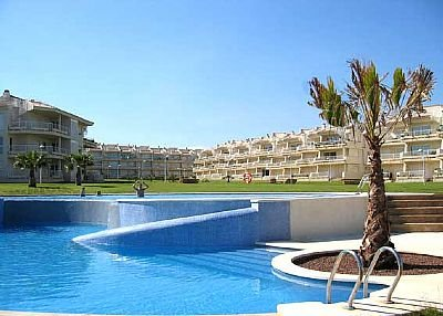 Apartment in Spain, Playa Romana-Carregador: Enjoy fabulous sea views and a dip in the pool