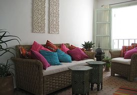 House in Essaouira, Morocco: living room