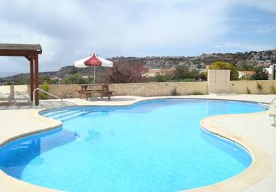 Apartment in Cyprus, Peyia: Heated Pool Boasting Sea and Mountain Views