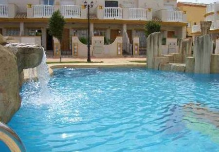 Villa in Aguamarina, Spain: Front of holiday home from pool