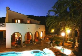 Villa in Spain, Oliva: Main Terrace by Night