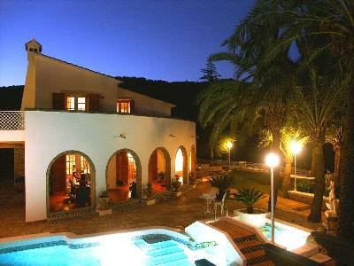Villa in Spain, Oliva: Main Terrace by Night