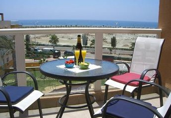 Penthouse Apartment in Spain, Almerimar: Relax on your balcony with sea and beach views