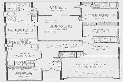 Villa in USA, Indian Creek: Floorplan of Lumieres Chateau