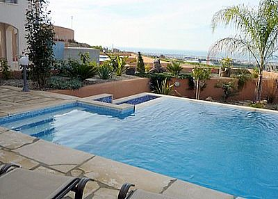 Villa in Cyprus, Coral Bay: View From the Infinity Pool (Winter !)