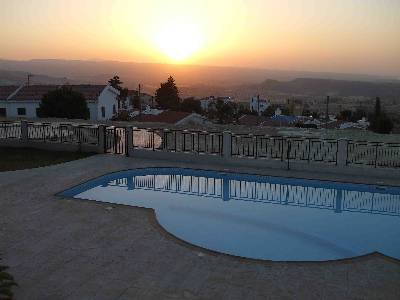 Apartment in Cyprus, Paphos: Sunrise Over Pool