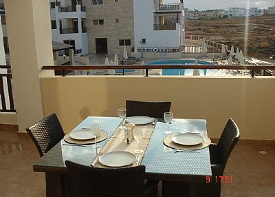 Apartment in Cyprus, Kapparis: Dining Table on veranda for meals