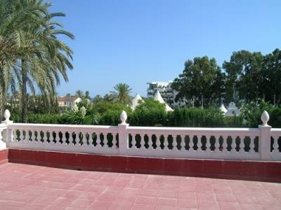 Villa in Spain, Marbella: sea view from the masterbed terrace